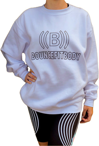 ((BOUNCE)) Ladies Sweatshirt Outline Range | White/ Black