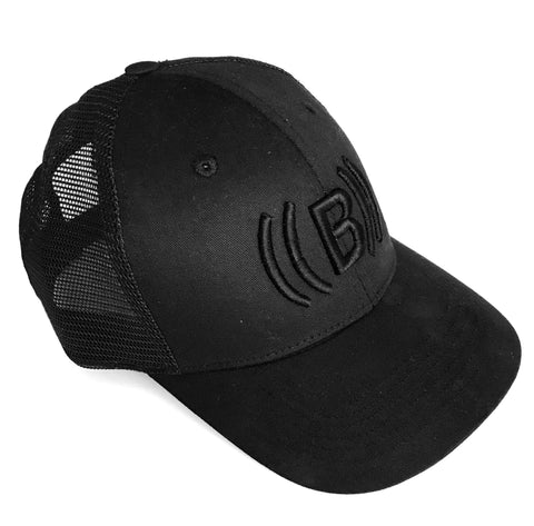 ((BOUNCE))  Black Trucker Cap