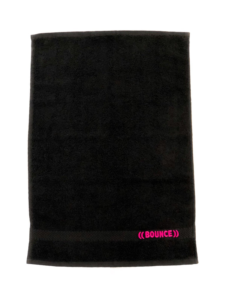((BOUNCE)) Small Towel | Black/ Pink