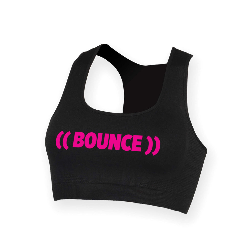 ((BOUNCE)) Crop Top | Black / Pink