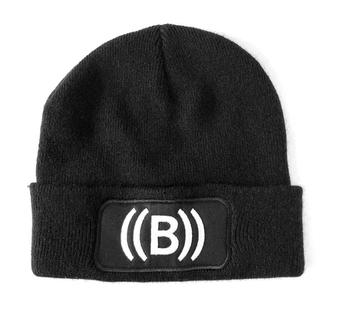 ((BOUNCE))  Black Beanie Hat