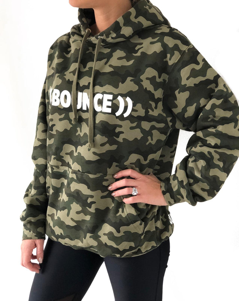#bouncearmy Hoodie | Camouflage / White
