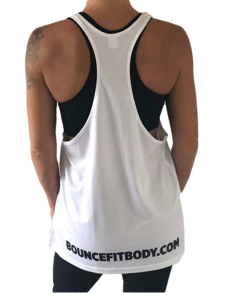 ((BOUNCE)) Loose Sports Vest | White / Black