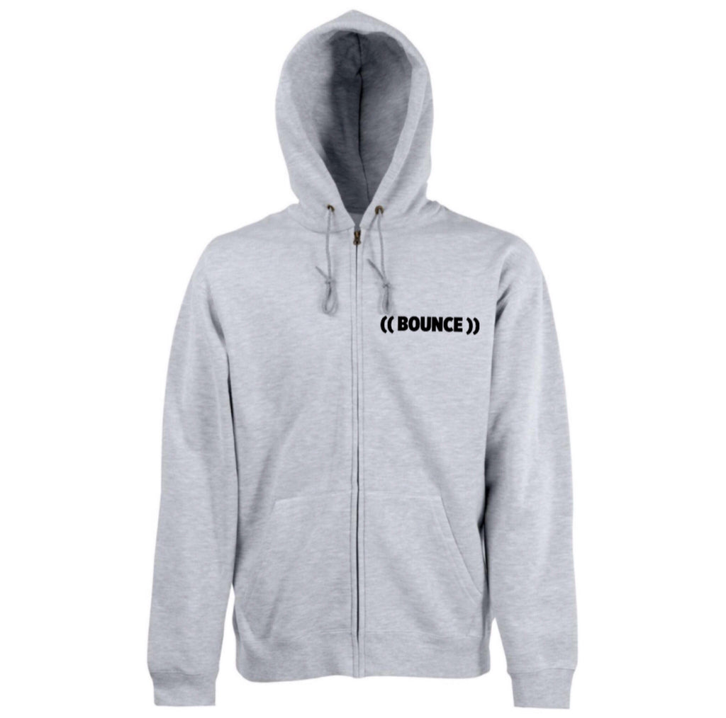 ((BOUNCE)) Zip Hoodie | Grey / Black