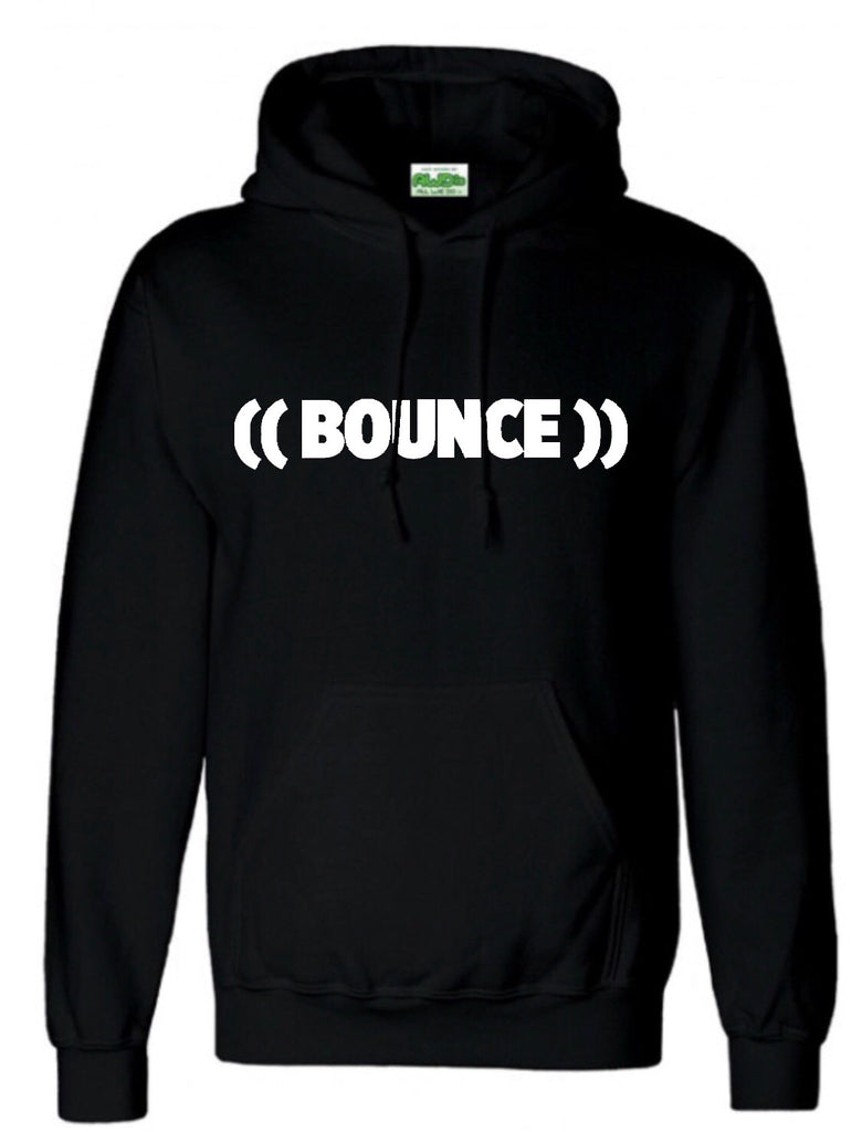 ((BOUNCE)) Men's Black with White Hoodie x10 (25% Licensee Discount)