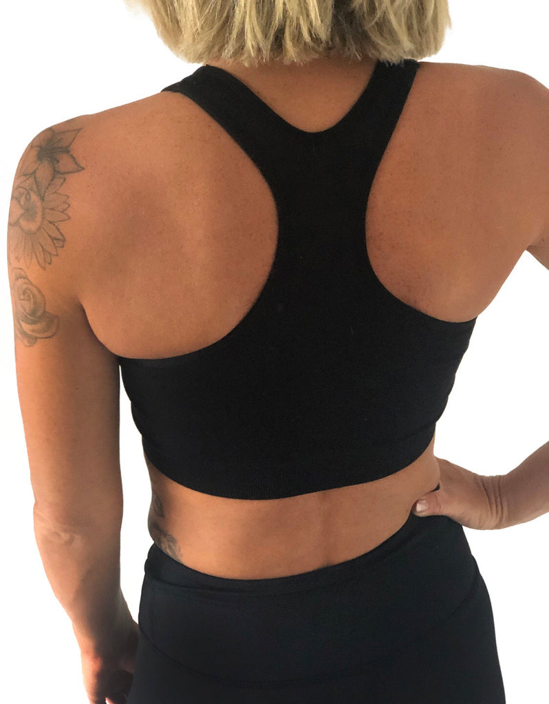 *NEW* ((BOUNCE)) Crop Top: Outline Range | Black / White