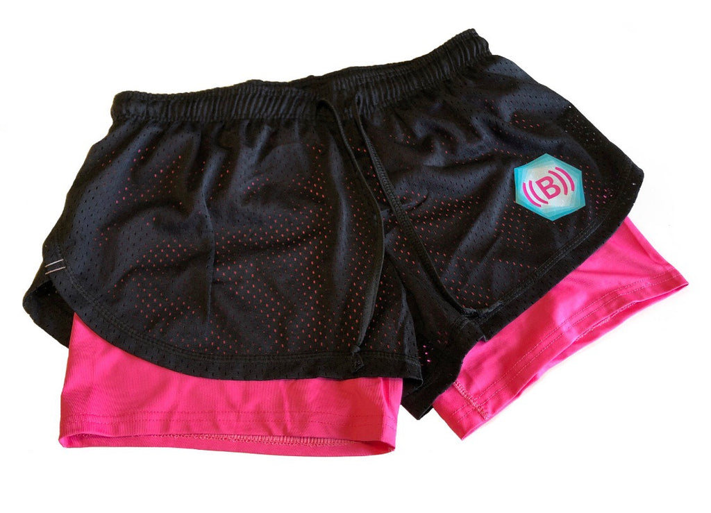 ((BOUNCE)) Shorts | Black/ Pink