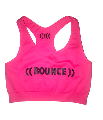 ((BOUNCE)) Crop Top | Pink / Black