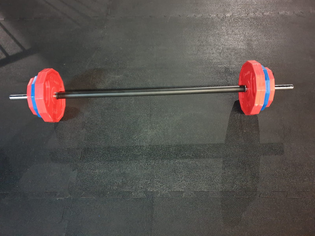 ((BOUNCE)) Barbell Bar + 17.5kg plates (2 x 1.25kg + 2 x 2.5kg + 2 x 5kg plates)