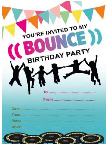((BOUNCE)) Party Invites