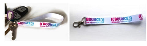 ((BOUNCE)) Fabric Lanyard Keyrings