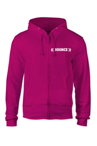 ((BOUNCE)) INSTRUCTOR Zip Hoodie | Pink / White