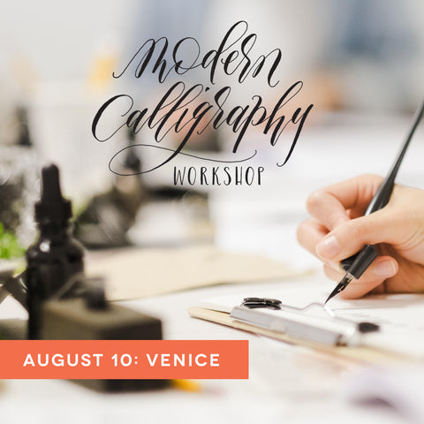 calligraphy workshop venice august 10