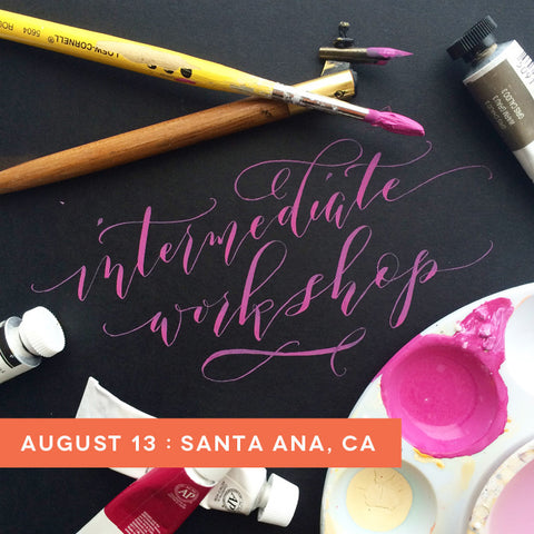 orange county calligraphy workshop august 13