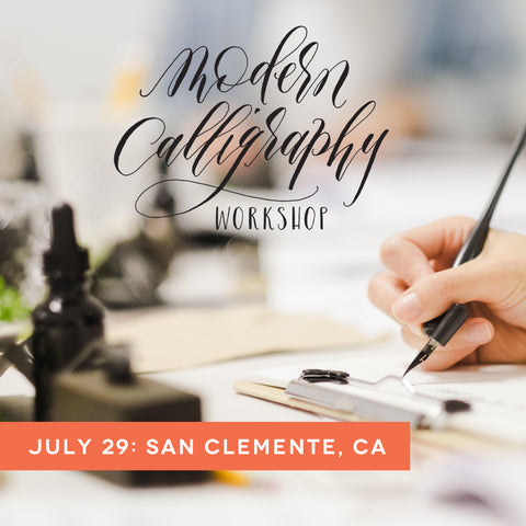 orange county calligraphy workshop july 29