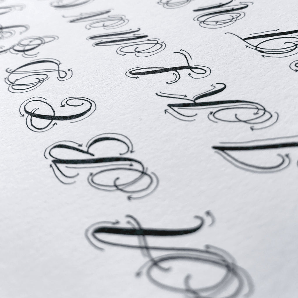 image about Printable Calligraphy Practice titled Printable Calligraphy Coach Alphabet (Electronic Down load - Alphabet 3)