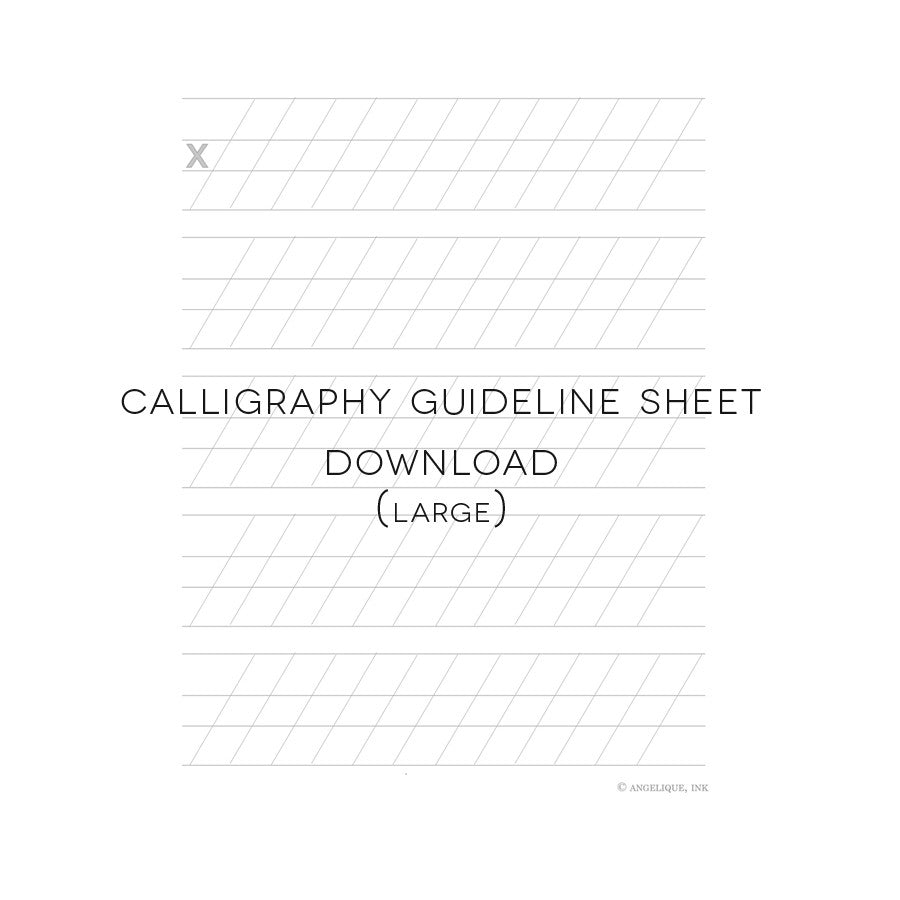 photo regarding Calligraphy Practice Sheets Printable titled Totally free Down load - Printable Calligraphy Manual Sheet (huge