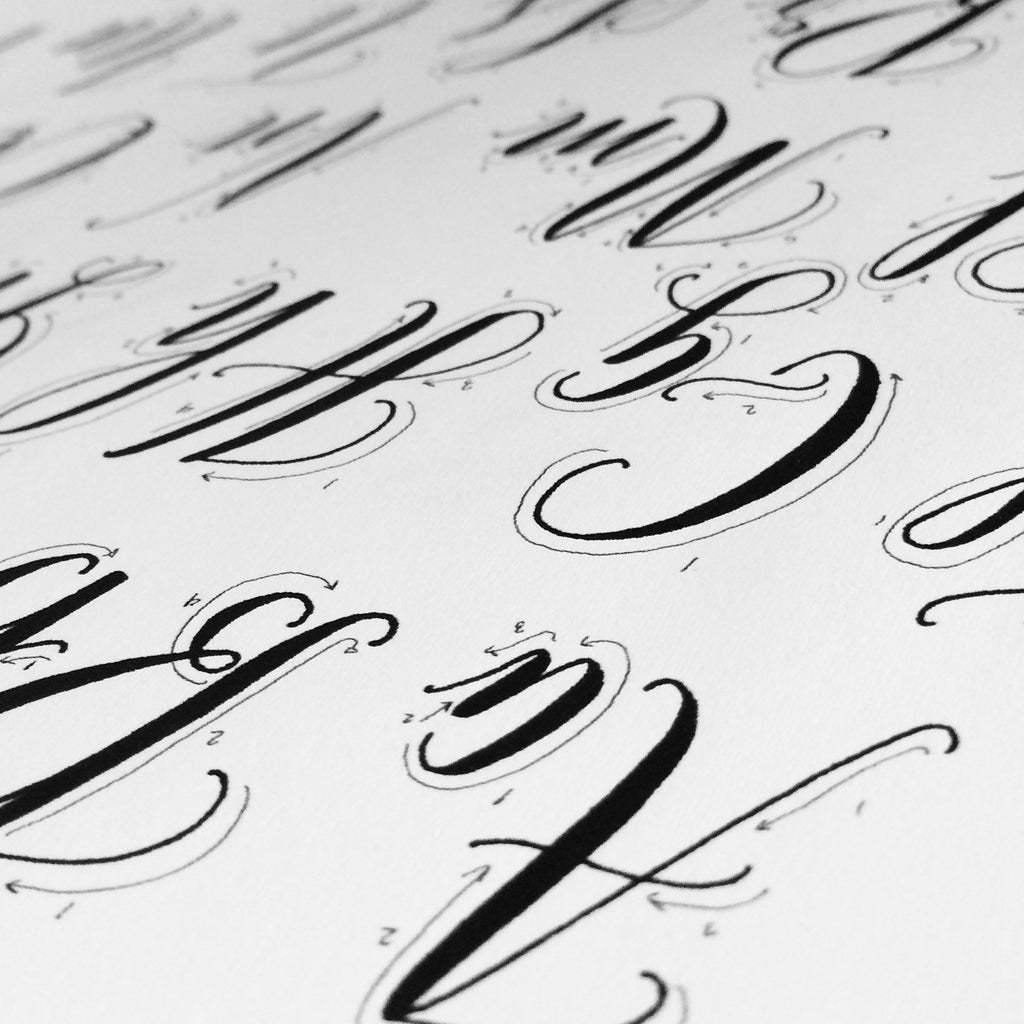 picture relating to Printable Calligraphy Practice called Printable Calligraphy Coach Alphabet (Electronic Obtain - Alphabet 1)