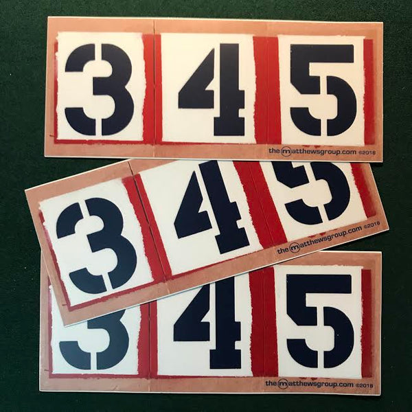 '345' Number of Importance Sticker