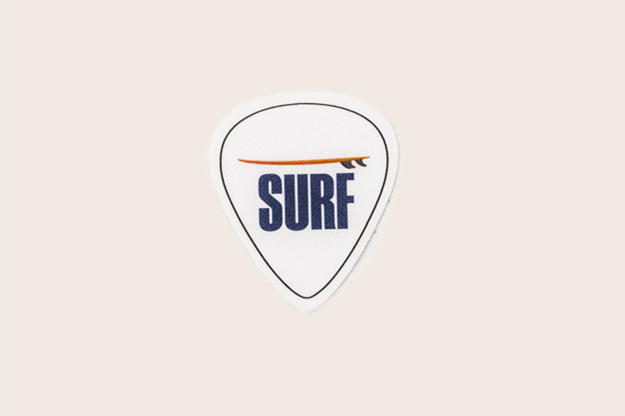 Surf Guitar Pick Sticker