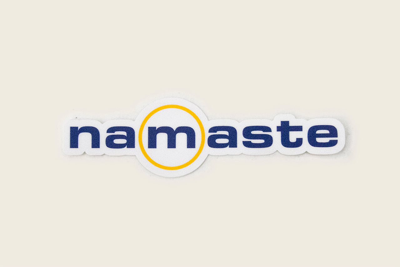 Namaste 'M' Mood Modality Sticker