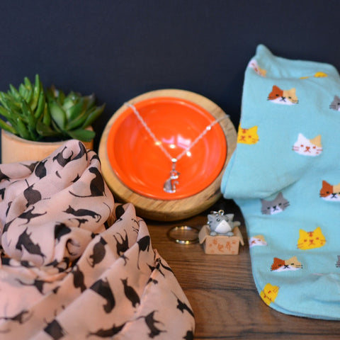 Cozy Cat Mom Gift Set