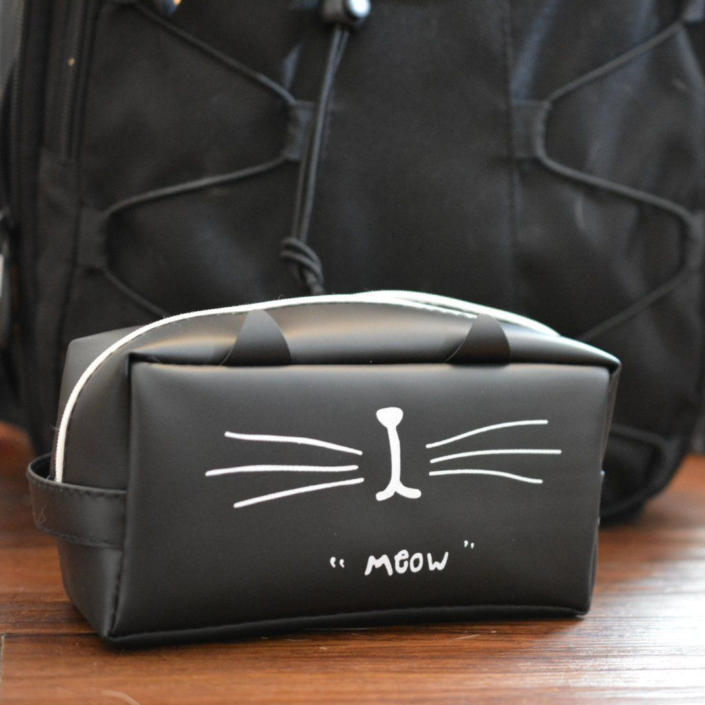 Cute Cat Pencil Case with Backpack