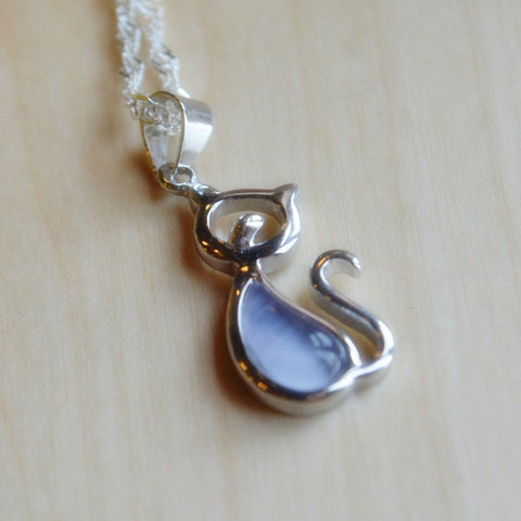 Opal Love Cat Pendant
