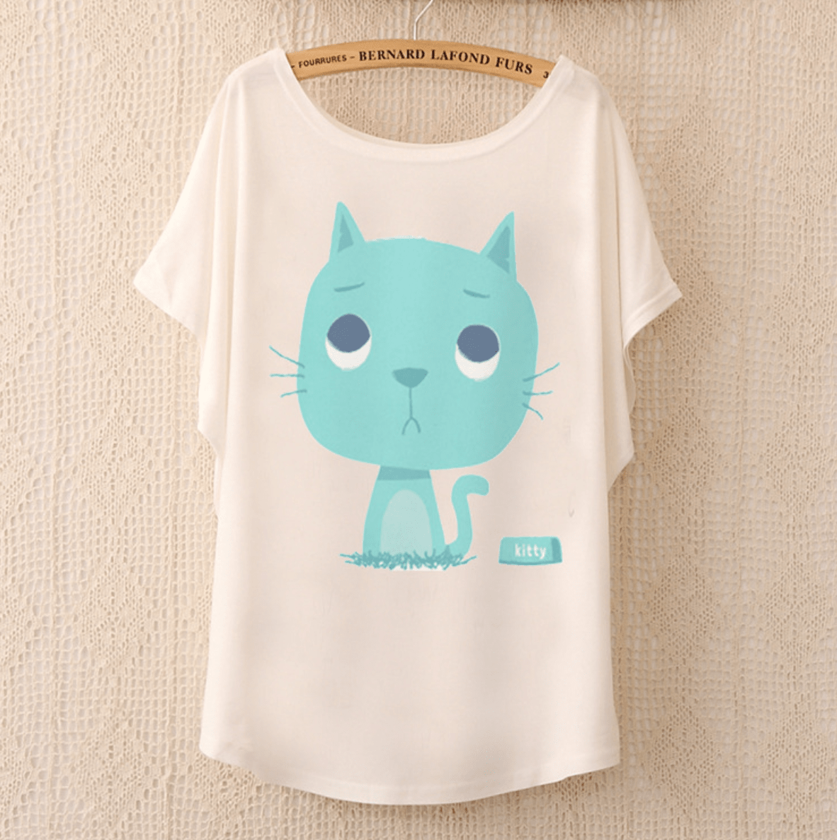 Cute Blue Kitty T-Shirt