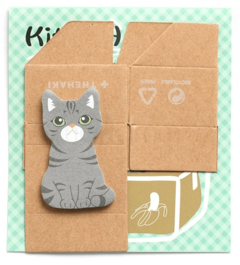 Grey Cat Sticky Notes