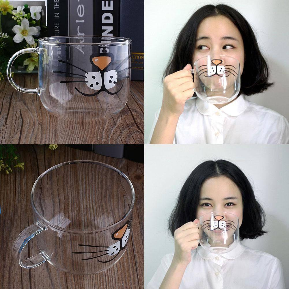 Cat Whiskers Glass Coffee Cup