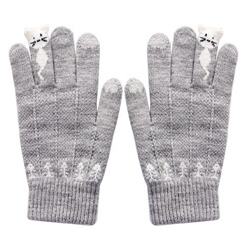 Winter Knitted Touchscreen Gloves