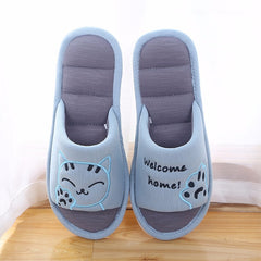 Welcome Home Cat Slippers