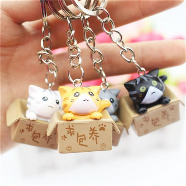 All Cat Keychains on Hand Model