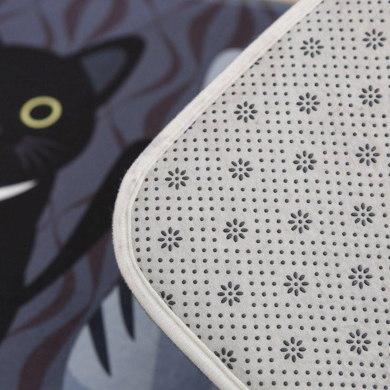 Back and Front closeup of Kitty Welcome Mat