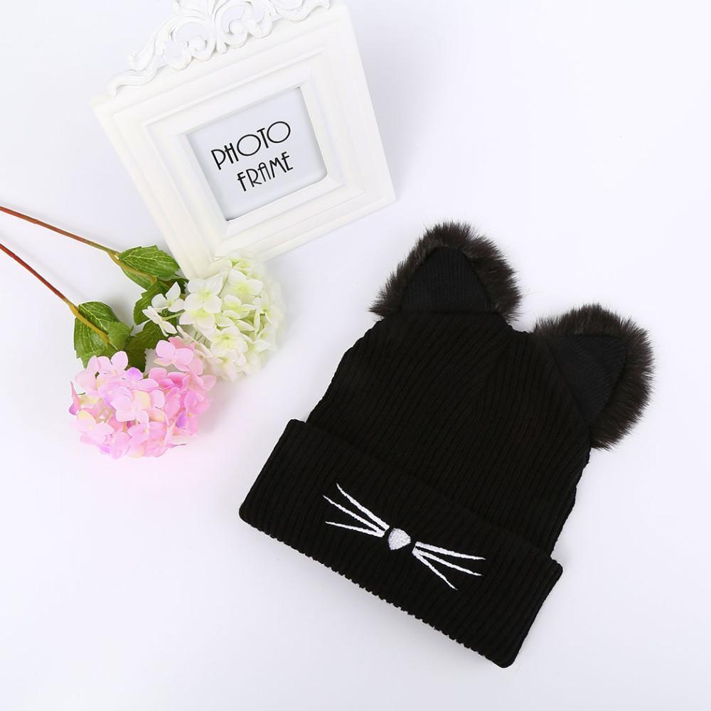 Gift for Cat Lovers - Fuzzy Cat Ear Beanie
