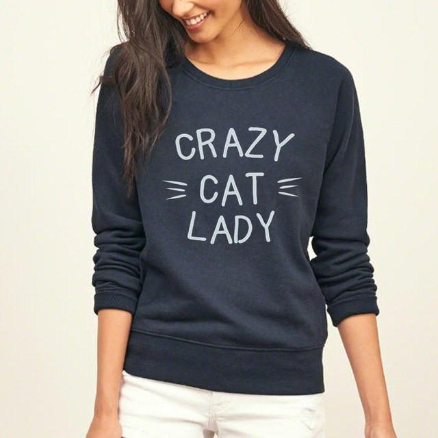 Cat Lady Sweatshirt in Navy Blue