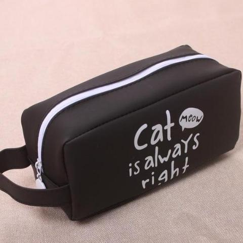 "Cute Cat Pencil Case - ""Cat is always right"" Style"