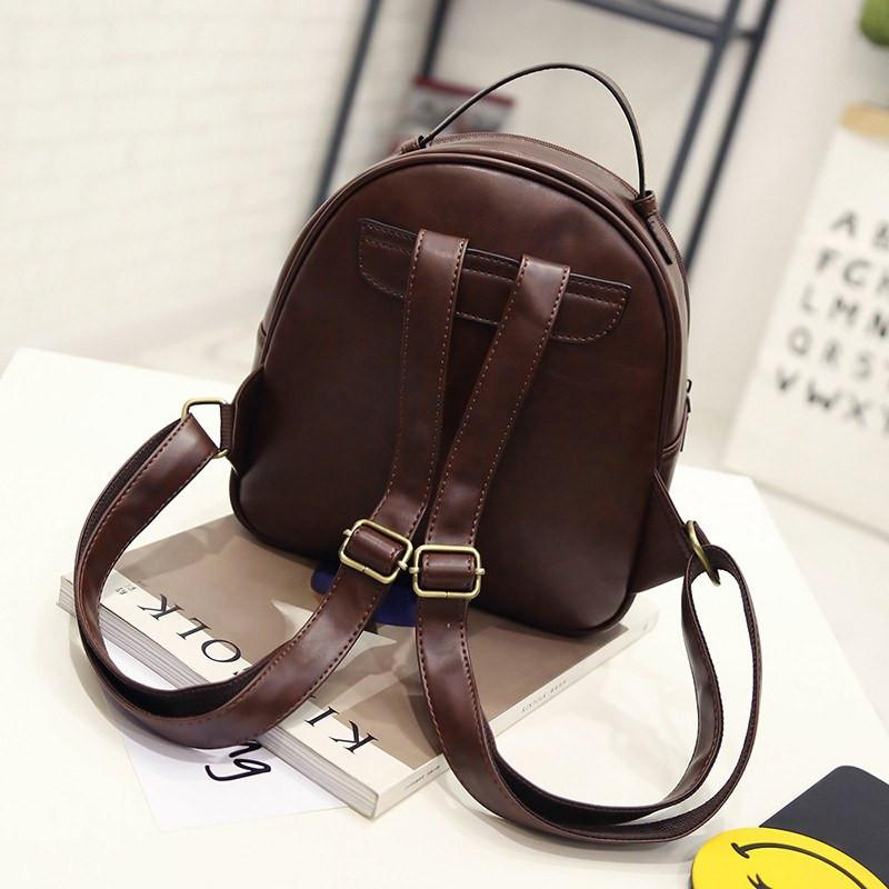 Cat Whiskers Backpack - Back View Brown Color