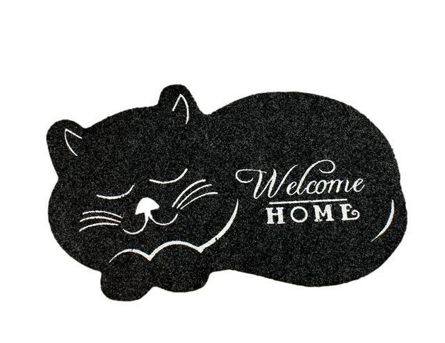 Cat Shape Welcome Home Floor Mat