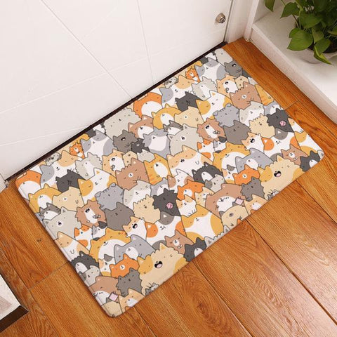Crowded Kitty Floor Mat - Catify.co