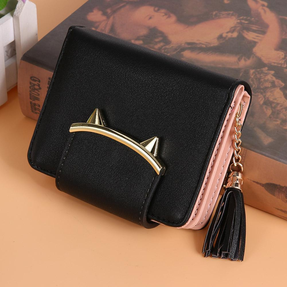Luxury Cat Ear Leather Wallet
