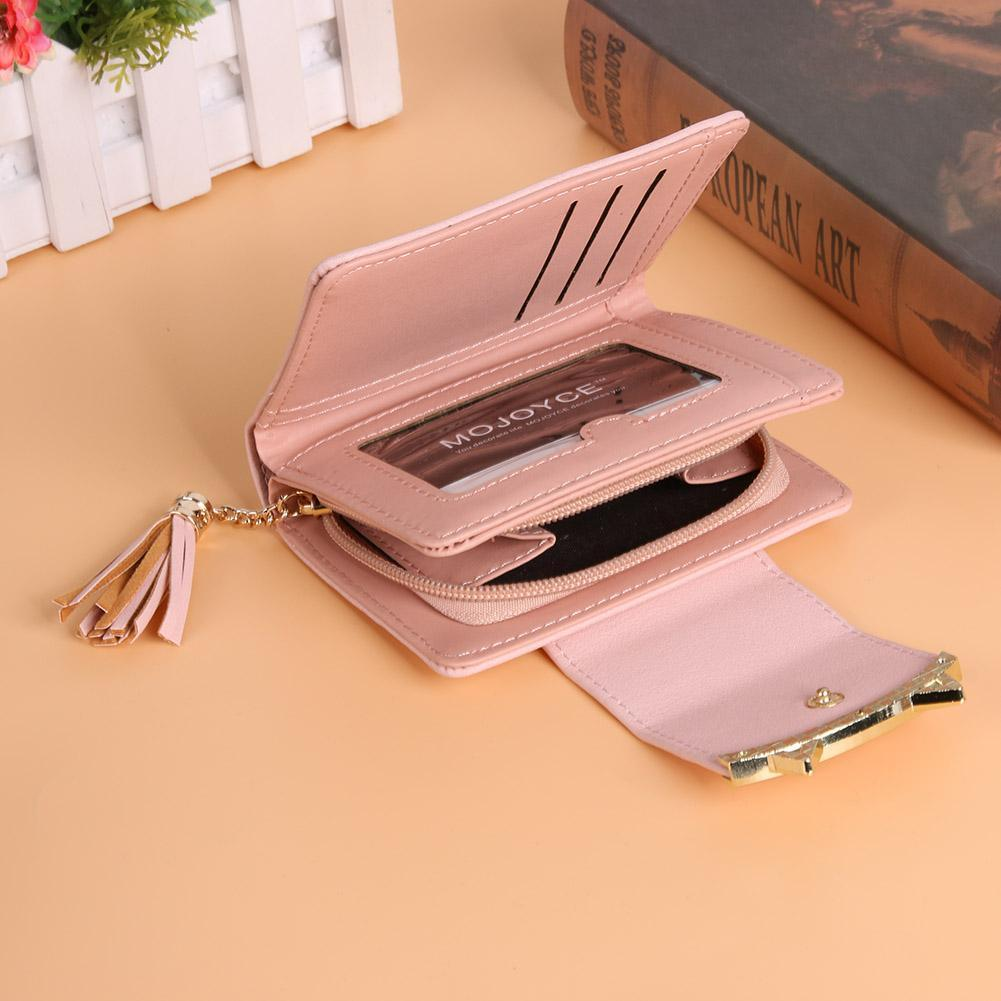 Pink Cat Ear Leather wallet on desk - Catify.co