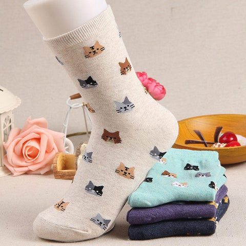 Kitten Socks modeled with variations
