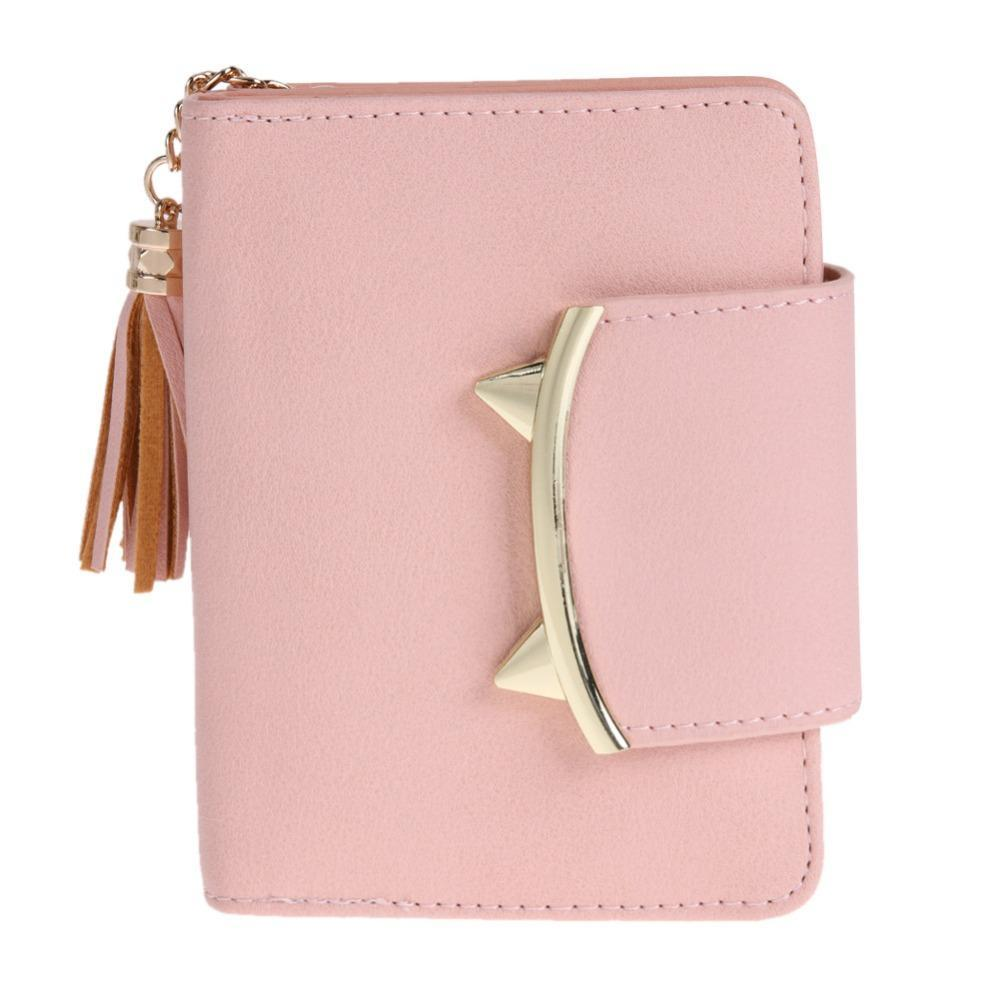 Pink Cat Ear Leather Wallet