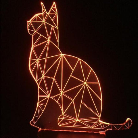 LED Sitting Cat Lamp