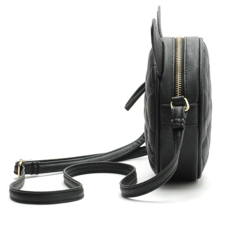 Mini Leather Messenger Bag With Cat Ears