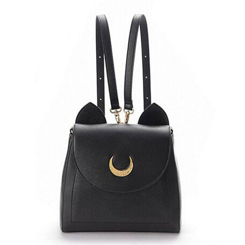 Moon Cat Bag with Ears front view
