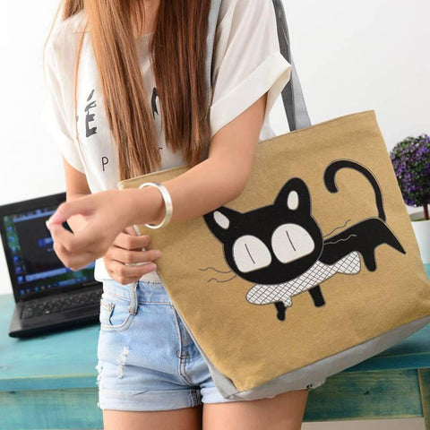 Canvas Cat Handbag - Catify.co