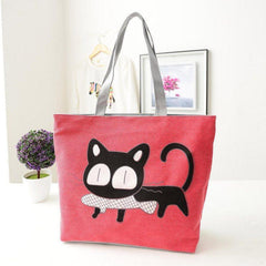 Canvas Cat Handbag